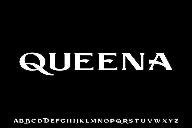 Queena, fonte alfabeto serif luxuosa