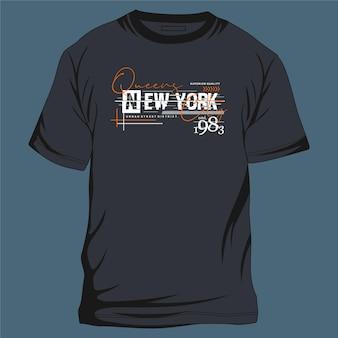 Queens new york city tipografia gráfica legal design ilustração para impressão de camiseta