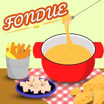 Queijo fondue