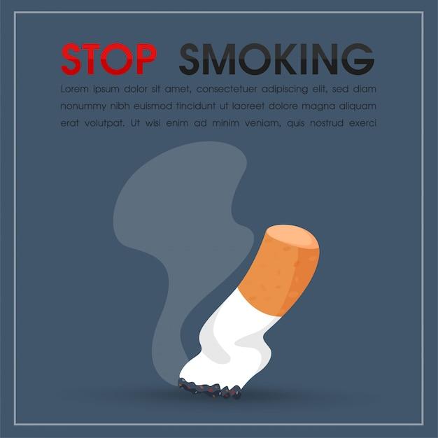 Queima de cigarros e fumaça