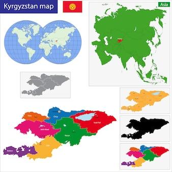 Quirguistão mapa