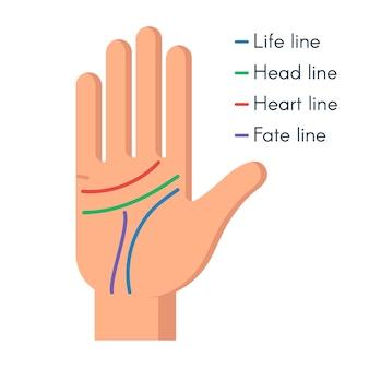 Quiromancia mão humana