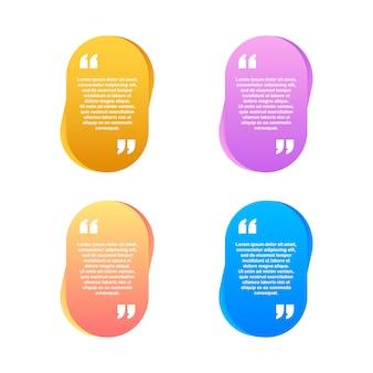 Quote. modelo de citação de design moderno material criativo. ilustração.