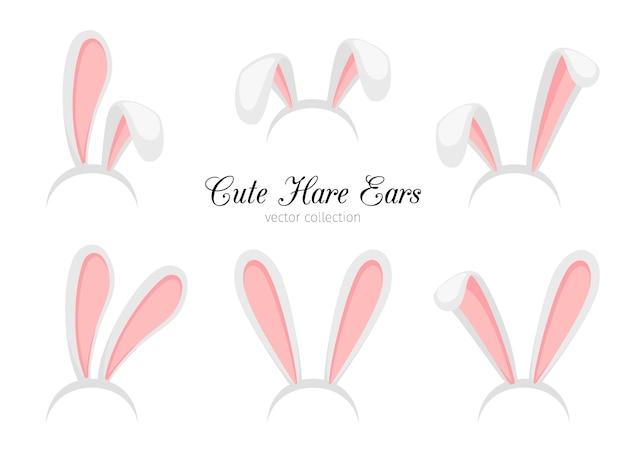R coelho de páscoa dos desenhos animados engraçados ou faixa de orelhas de coelho para o traje
