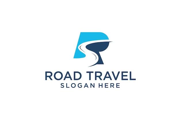 R icon conceito de viagens rodoviárias
