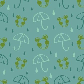Rã de drã de mão sem costura com padrão de pingo de chuva