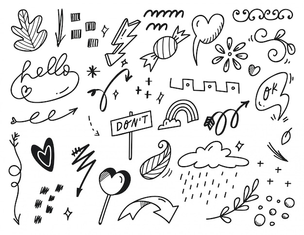 Rabisco abstrato desenhado à mão