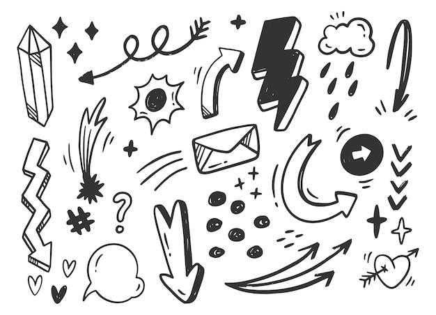 Rabisco de rabisco abstrato desenhado à mão
