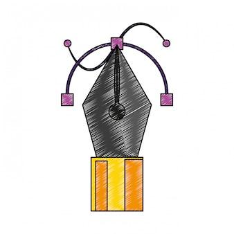 Rabisco de símbolo de caneta de vetor
