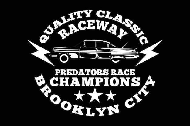 Raceway brooklyn city champions estilo vintage