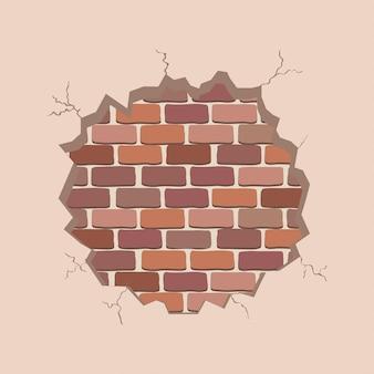 Rachaduras e parede de tijolos