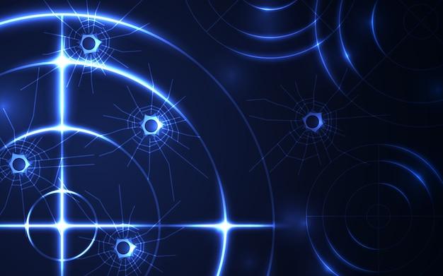 Radar azul abstrato