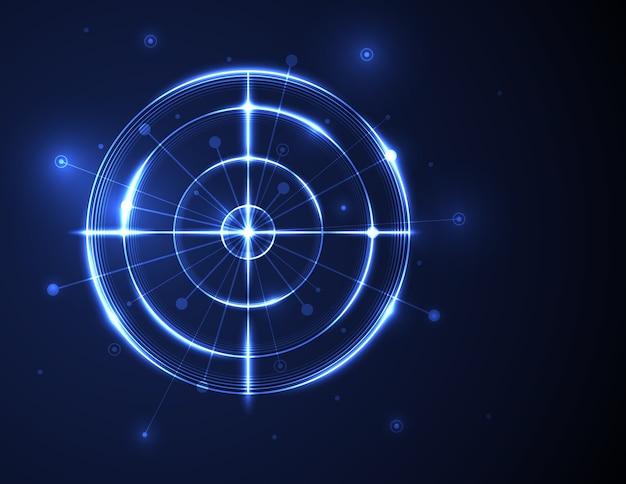 Radar futurista abstrata
