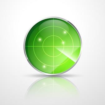 Radar verde com pontos