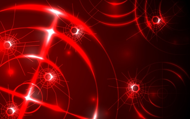 Radar vermelho abstrato