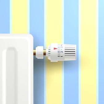 Radiador com botão de temperatura