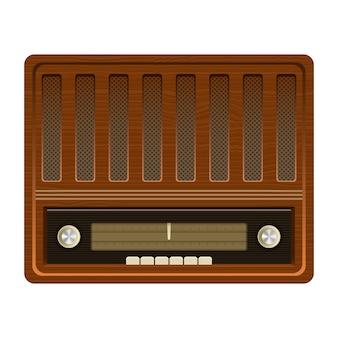 Rádio antigo vintage design ilustração isolado no fundo branco