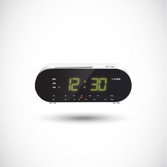 Rádio relógio. realista