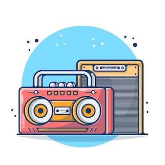 Rádio vintage isolado no branco