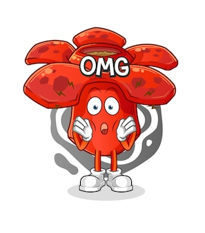 Rafflesia oh meu deus. mascote dos desenhos animados mascote dos desenhos animados