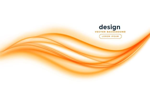 Raia de linha de onda laranja em fundo branco