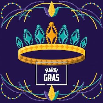Rainha da coroa da celebração do mardi gras