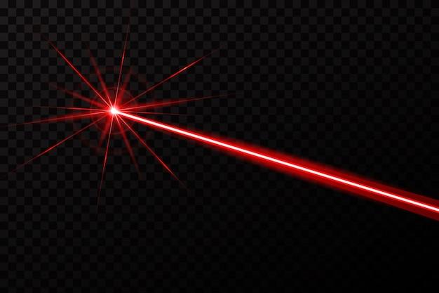 Raio de luz de brilho de segurança laser.