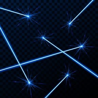 Raio de luz do brilho do feixe da segurança do laser.