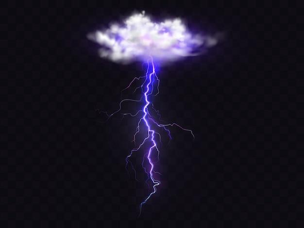 Raio do relâmpago da ilustração da nuvem do temporal.