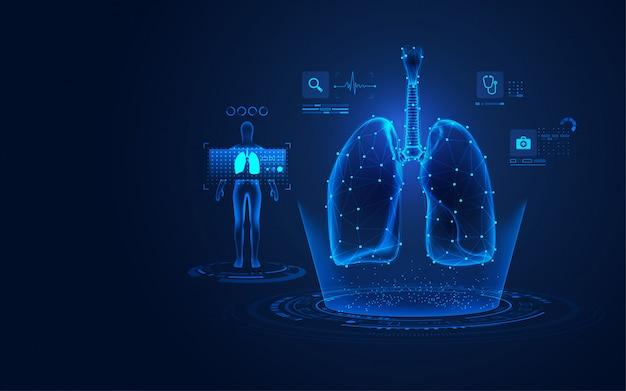 Raio x médico dos pulmões