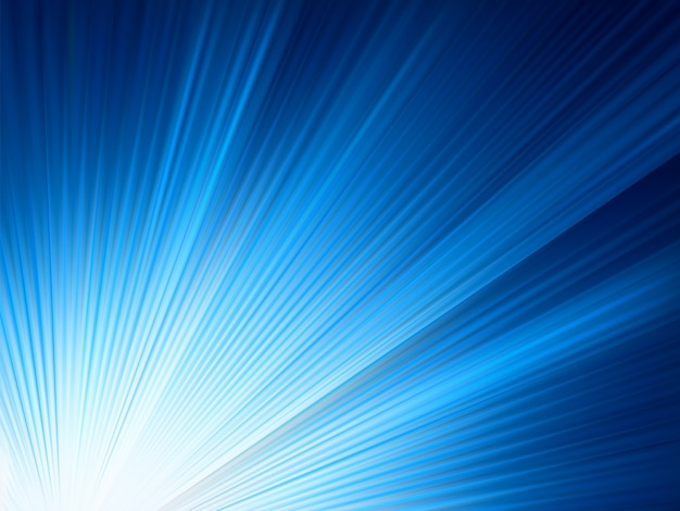 Raios de aumento de brilho azul.
