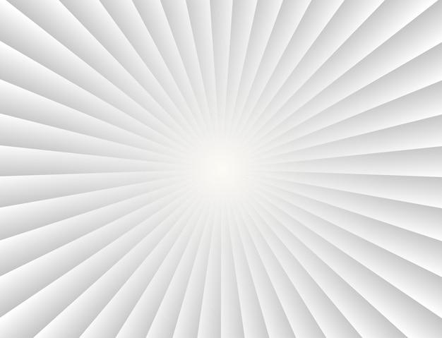 Raios de gradiente de raios de sol abstratos em fundo branco