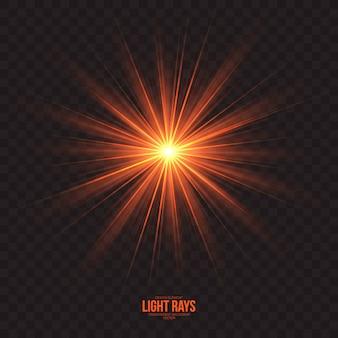 Raios de luz abstratos efeito de fundo vector