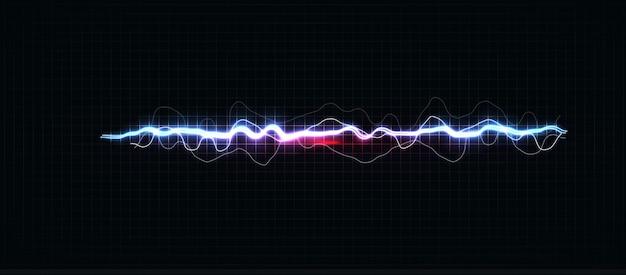 Raios de várias cores, raio brilhante e choque elétrico brilhante