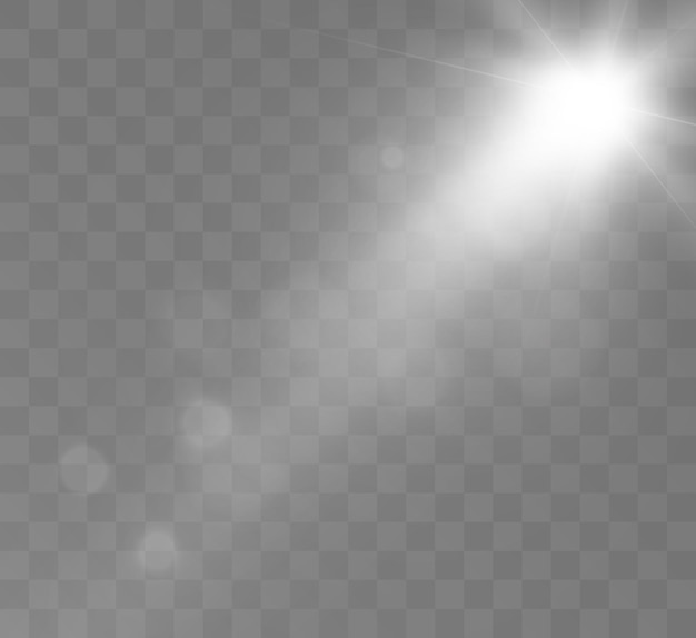 Raios espaciais de efeito de luz brilhante e brilho brilham