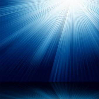 Raios luminosos azuis.