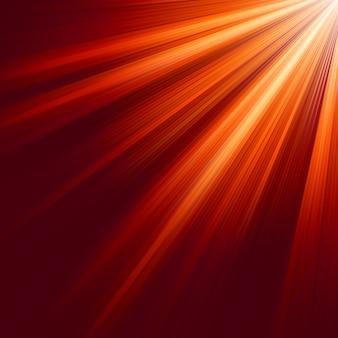Raios luminosos vermelhos.