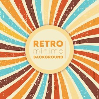 Raios swirly vintage com textura grunge retrô.