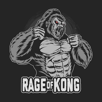 Raiva e gorila kong
