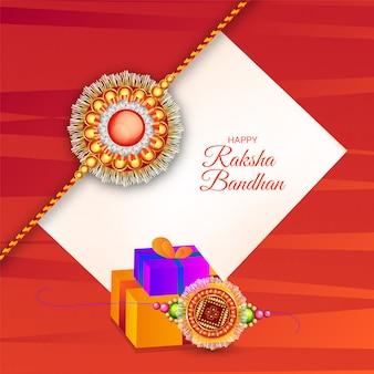 Rakhi bonito e caixas de presente decoradas