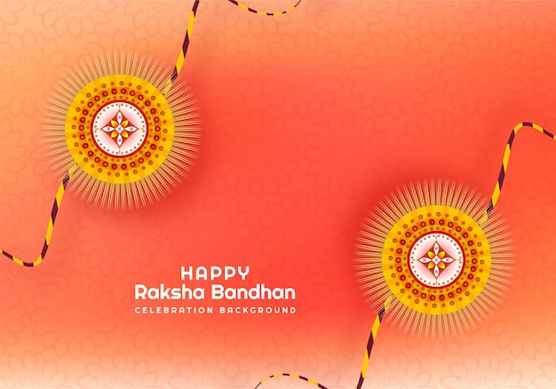 Rakhi bonito para o cartão de raksha bandhan