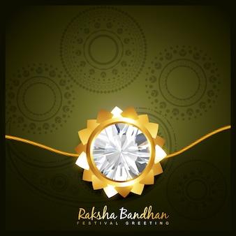 Rakhi dourado bonito para o festival hindu rakshabandhan