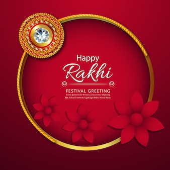 Rakhi floral com fundo criativo