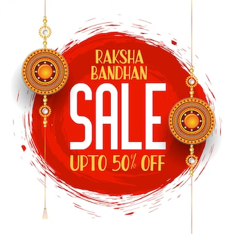 Raksha bandhan banner de venda festival