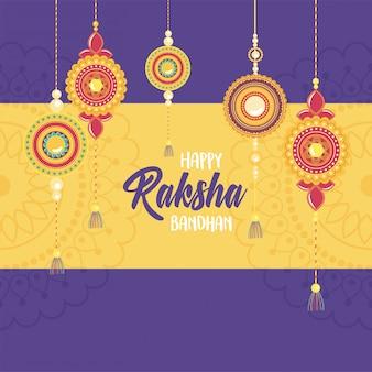 Raksha bandhan, coleção de pulseiras indianas tradicionais