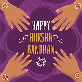 Raksha bandhan com as mãos