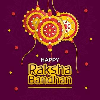 Raksha bandhan com ornamentos