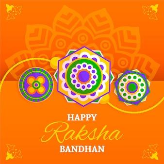 Raksha bandhan com saudação e decoração