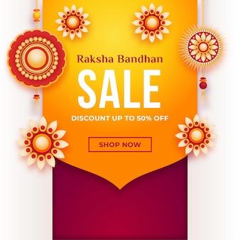 Raksha bandhan conceito de vendas