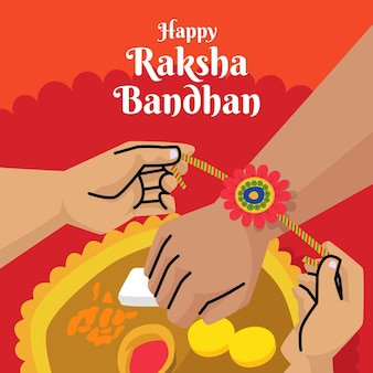 Raksha bandhan desenhar conceito